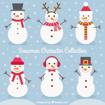 Pack of snowmen with accessories