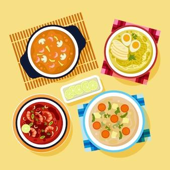 Confezione di assortimento di zuppe