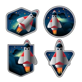 Pack of spaceship badges