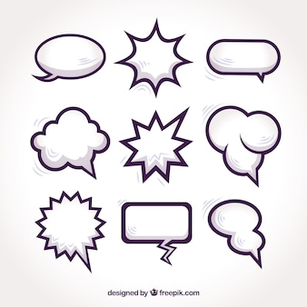 Pack of speech bubbles for comic