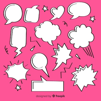 Pack of speech bubbles for comics