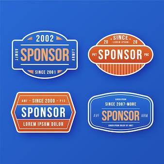 Confezione di adesivi che promuovono sponsor