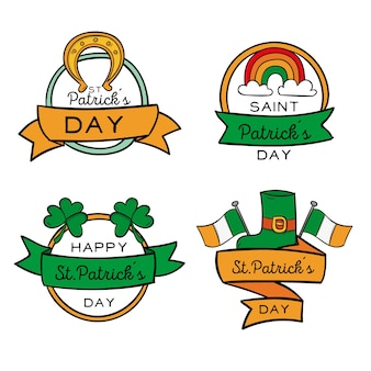 Pack of st. patrick's day labels