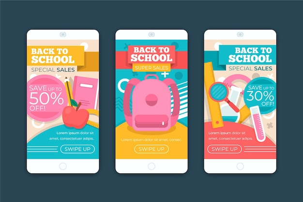 Pack of stories with back to school theme