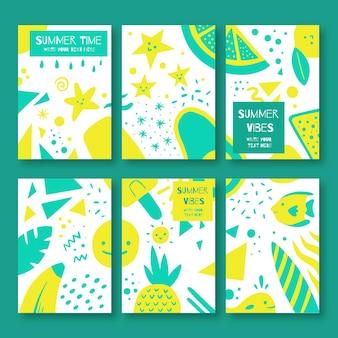 Mazzo di carte estive