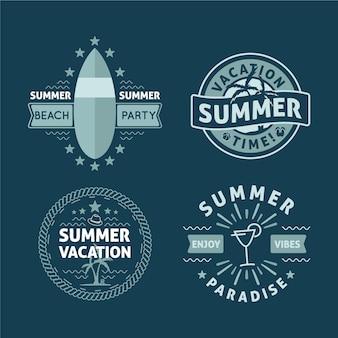 Confezione di etichette estive