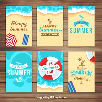 Pack of summertime cards