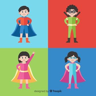 Pack of superhero kids