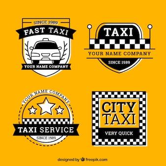 Confezione di etichette di taxi