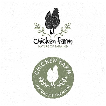Pack of  template chicken logo