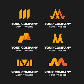 Pack of templates with m logos