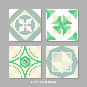 Pack of tiles in flat design