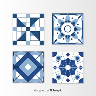 Pack of tiles in flat style