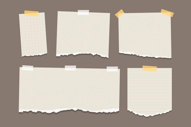 Confezione di carta strappata in diverse forme