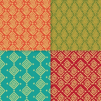 Pack of traditional songket patterns