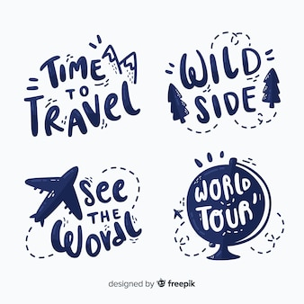 Pack of travel lettering badges