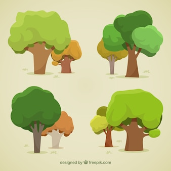 Pack of trees in 2d style