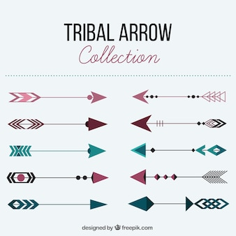 Confezione da frecce tribali con colori diversi