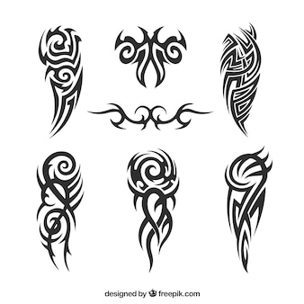 Pack of tribal tattoos