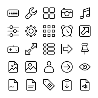 Pack of user interface icons