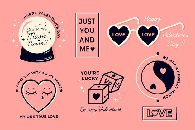 Pack of valentine's day elements