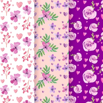 Pack of valentines day patterns