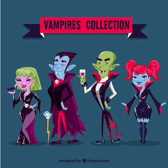 Pack of vampire characters