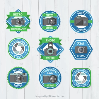 Pack of variety photography labels