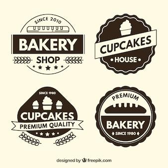 Pack of vintage bakery shop labels