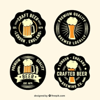 Pack of vintage beer stickers