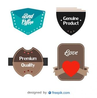 Pack of vintage buckle labels