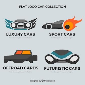 Pack of vintage car logos