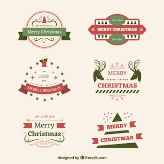 Pack of vintage decorative christmas stickers
