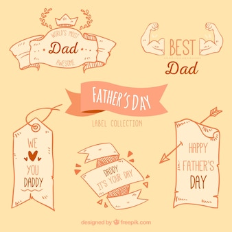 Pack of vintage decorative father's day ribbons