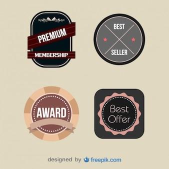Pack of vintage premium member labels