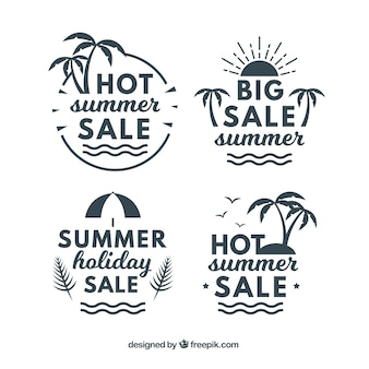 Pack of vintage summer sale stickers