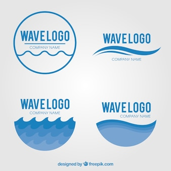 Pack of wave logos