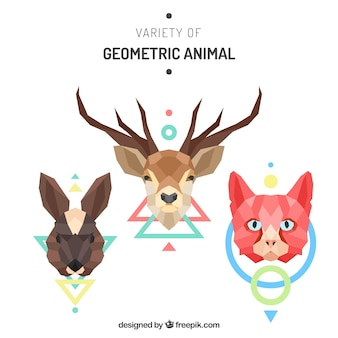 Pack of wild geometric animals