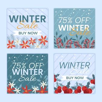 Pacchetto di post di instagram di vendita invernale