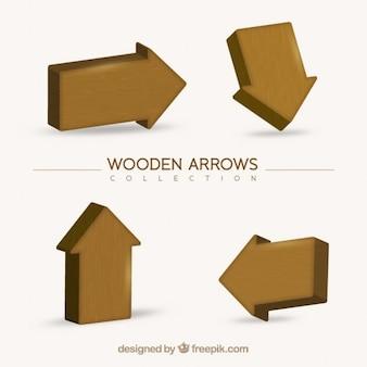 Confezione da frecce di legno