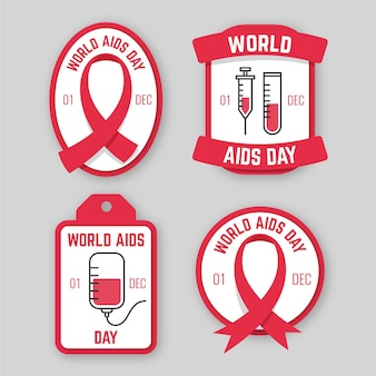 Pack of world aids day badges