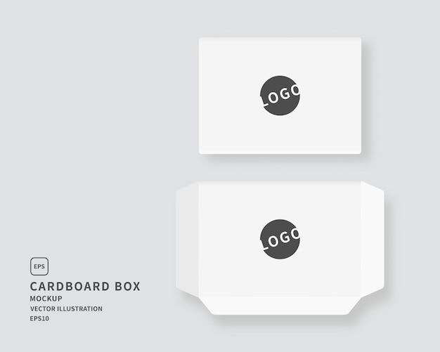 パッケージ段ボール箱セット。ラベルテンプレートと段ボール箱のセットです。