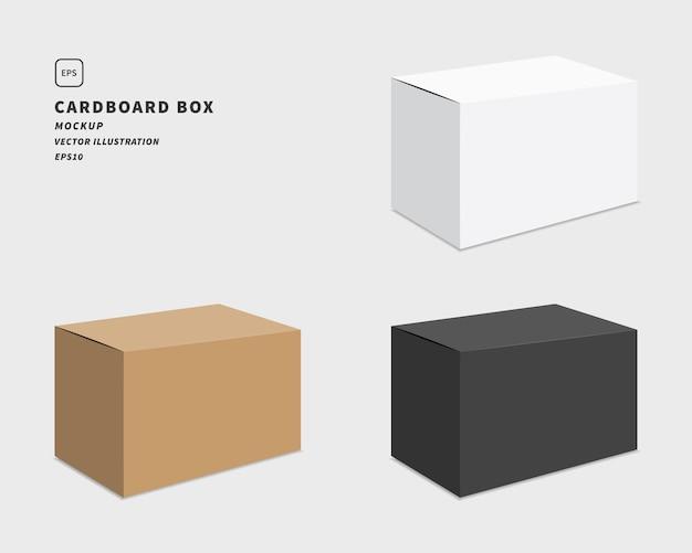 パッケージ段ボール箱セット。