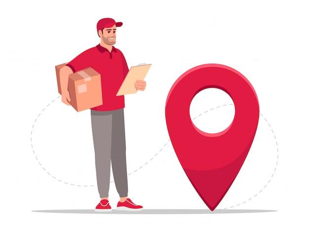 Package geolocation semi flat rgb color   illustration