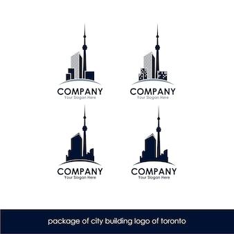 Пакет городского строительства логотип торонто