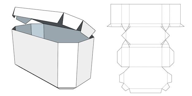 パッケージの青写真。段ボール箱。パッケージテンプレート。