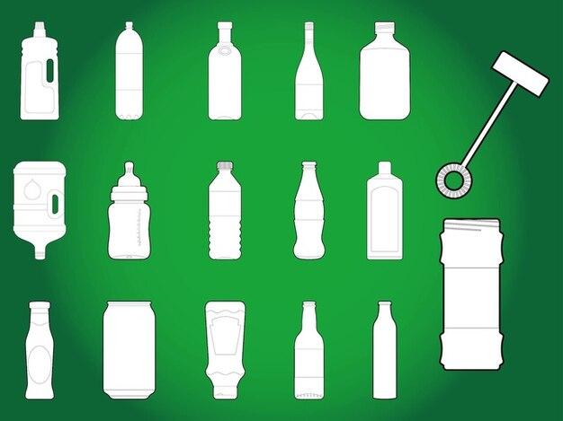 Packaging bottle drinks labels templates