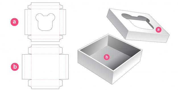 Packaging box die cut template design Premium Vector