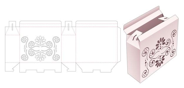 스텐실 만다라 다이 컷 템플릿이있는 포장 상자