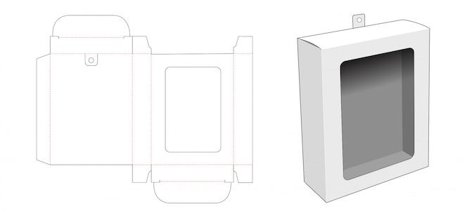 창 및 걸림 새 구멍 다이 컷 템플릿 포장 상자